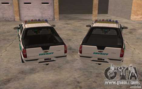 Chevrolet Avalanche Orange County Sheriff for GTA San Andreas back view