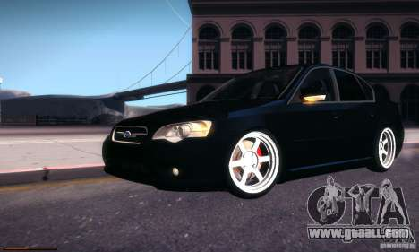 Subaru Legacy BIT edition 2004 for GTA San Andreas upper view