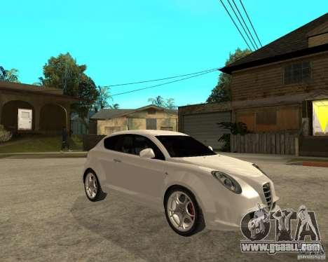 Alfa Romeo Mito for GTA San Andreas right view
