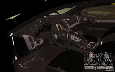 Porsche Cayenne Turbo 958 Seacrest Police for GTA San Andreas inner view