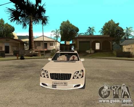 Maybach 57 S for GTA San Andreas back view