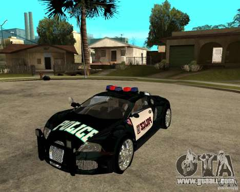 Bugatti Veyron police San Fiero for GTA San Andreas