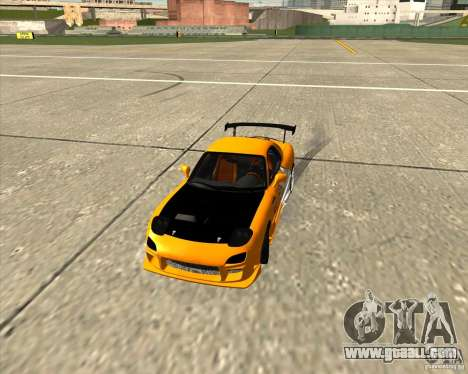 Mazda RX-7 sumopoDRIFT for GTA San Andreas inner view