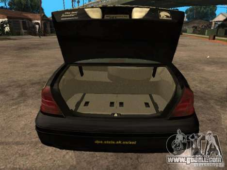 Ford Crown Victoria 2003 Police for GTA San Andreas back view