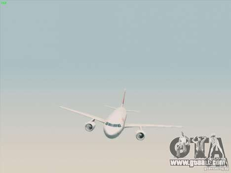Airbus A319-112 Swiss International Air Lines for GTA San Andreas right view