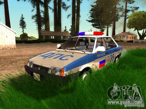 VAZ 2109 Police for GTA San Andreas bottom view
