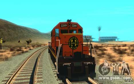 Locomotive SD 40 Union Pacific BNSF for GTA San Andreas right view