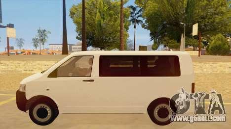 Volkswagen Transporter T5 Facelift 2011 for GTA San Andreas left view