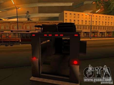 Monster Van for GTA San Andreas wheels