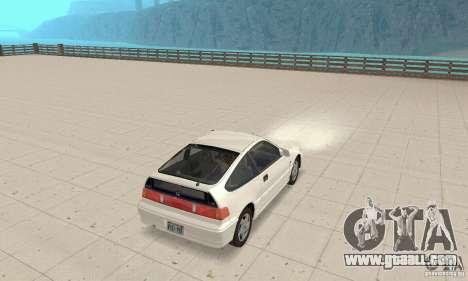HONDA CRX II 1989-92 for GTA San Andreas right view