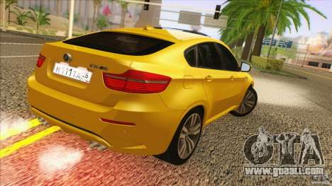 BMW X6M E71 v2 for GTA San Andreas left view