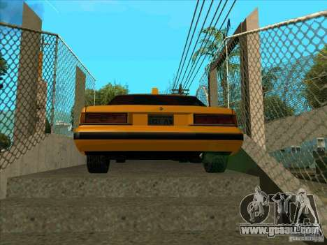 Intruder Taxi for GTA San Andreas back left view