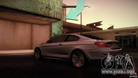 BMW 640i Coupe for GTA San Andreas back left view