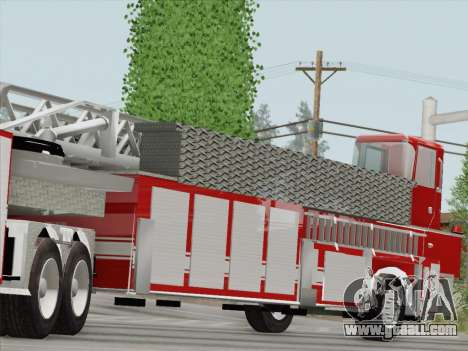 Pierce Arrow XT LAFD Tiller Ladder Trailer for GTA San Andreas inner view