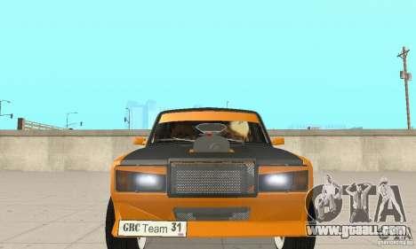 VAZ 2107 Off Road for GTA San Andreas inner view
