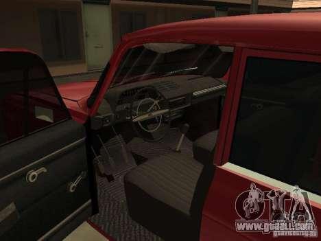 AZLK 412 IE for GTA San Andreas inner view