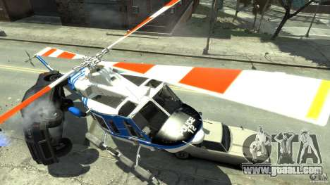 Bell412/NYPD Air Sea Rescue Helicopter for GTA 4 right view