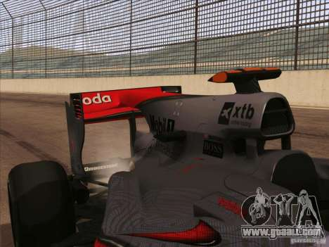 McLaren MP4-25 F1 for GTA San Andreas back view