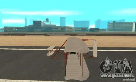 The Wright Flyer for GTA San Andreas left view