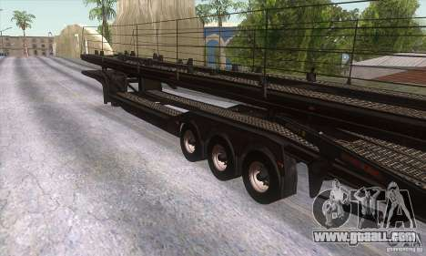The trailer-truck for GTA San Andreas right view