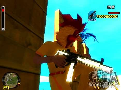 White Chrome Guns for GTA San Andreas third screenshot