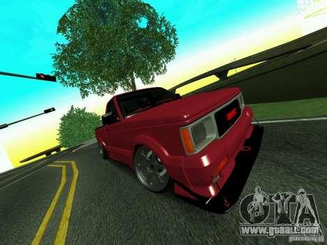 GMC Syclone Drift for GTA San Andreas inner view