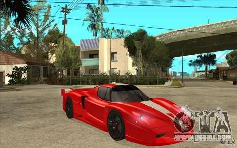 Ferrari FXX 2005 for GTA San Andreas inner view