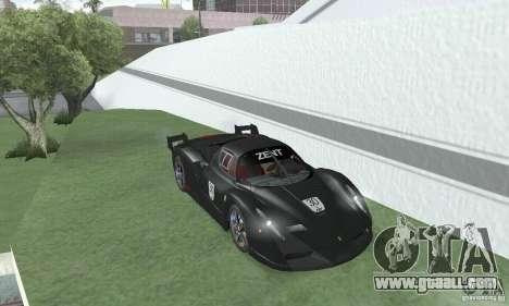 Ferrari FXX for GTA San Andreas back view