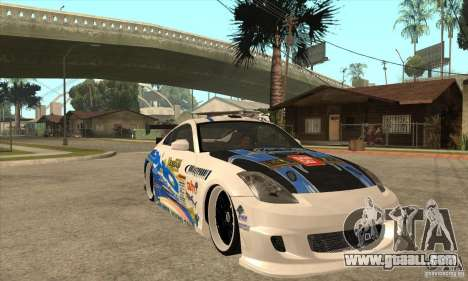 Nissan Z350 - Tuning for GTA San Andreas back view