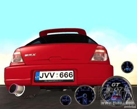 Subaru Impreza Universal for GTA San Andreas right view