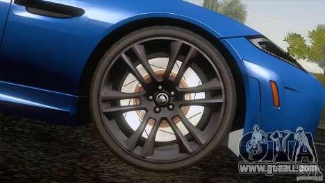 Jaguar XKR-S 2011 V1.0 for GTA San Andreas wheels