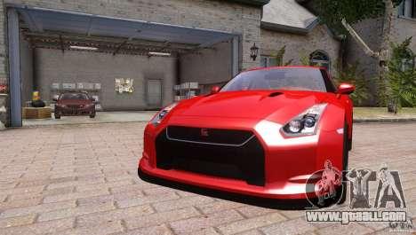 Nissan GTR R35 v1.0 for GTA 4 right view
