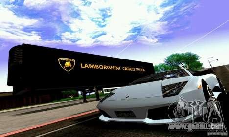 Lamborghini Cargo Truck for GTA San Andreas inner view