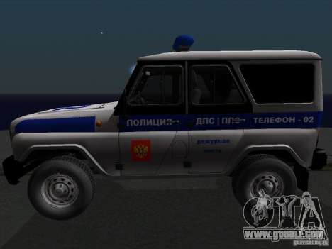 UAZ-315195 Hunter Police for GTA San Andreas left view