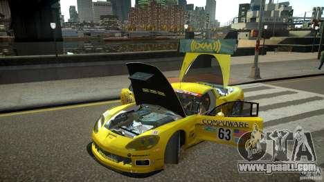 Chevrolet Corvette C6-R v2.0 for GTA 4 back view