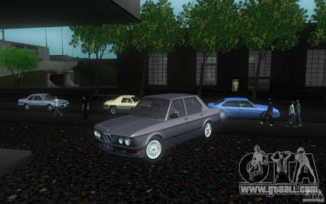 BMW E28 525e ShadowLine Stock for GTA San Andreas back view