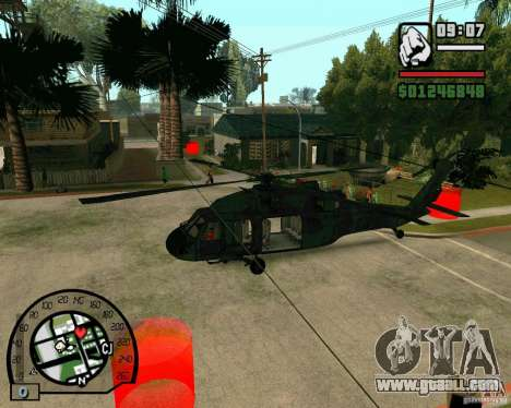 Blackhawk UH60 Heli for GTA San Andreas