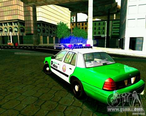 Ford Crown Victoria 2003 Police Interceptor VCPD for GTA San Andreas back left view