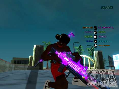 Purple chrome on weapons for GTA San Andreas fifth screenshot