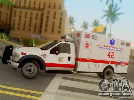 Ford F350 Super Duty Chicago Fire Department EMS for GTA San Andreas inner view
