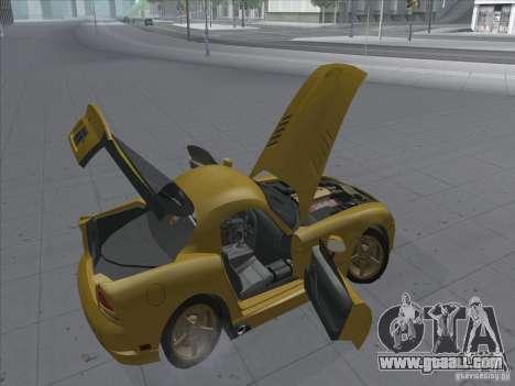 Dodge Viper SRT-10 (Golden Viper) for GTA San Andreas back view