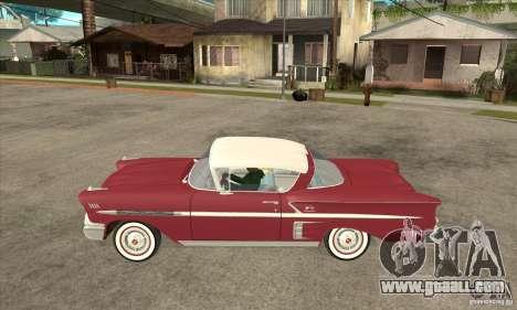 Chevrolet Impala 1958 for GTA San Andreas left view