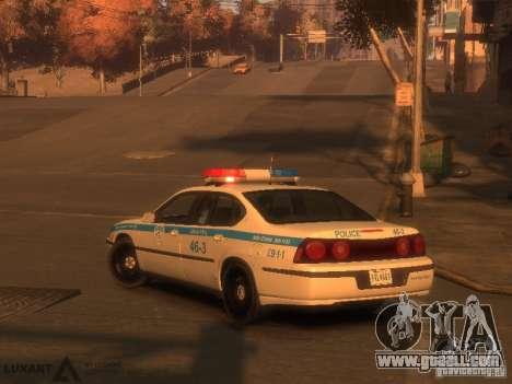 Chevrolet Impala Police 2003 for GTA 4 left view