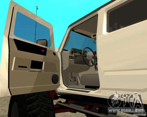 Hummer H2 MONSTER for GTA San Andreas back view