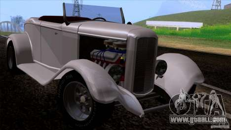 Ford Roadster 1932 for GTA San Andreas back view