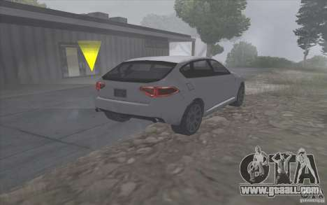 Subaru Impreza-style SA for GTA San Andreas back left view