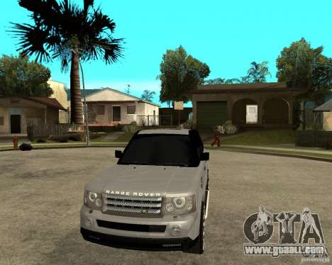 RANGE ROVER SPORT for GTA San Andreas back view