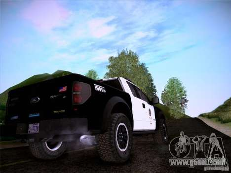 Ford Raptor Police for GTA San Andreas side view