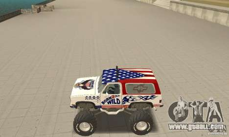 Chevrolet Blazer K5 Monster Skin 7 for GTA San Andreas