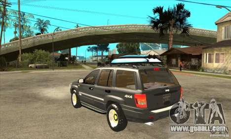 Jeep Grand Cherokee 2005 for GTA San Andreas back left view